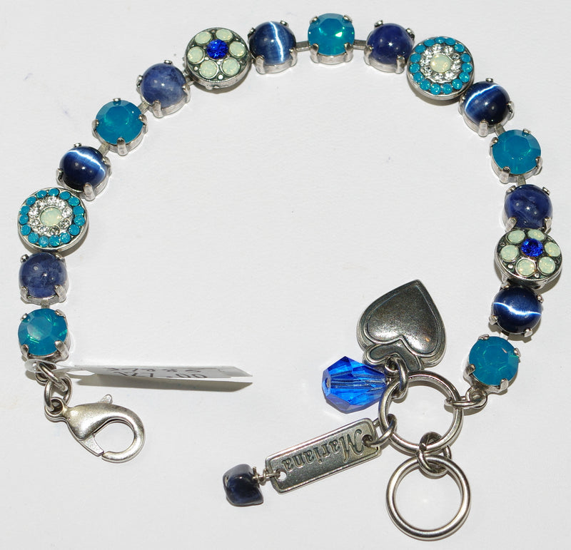 MARIANA BRACELET ZHANG: blue, pacific opal, teal stones in silver setting