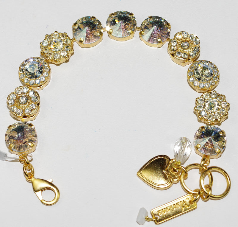 MARIANA BRACELET ON A CLEAR DAY: clear stones in yellow gold setting