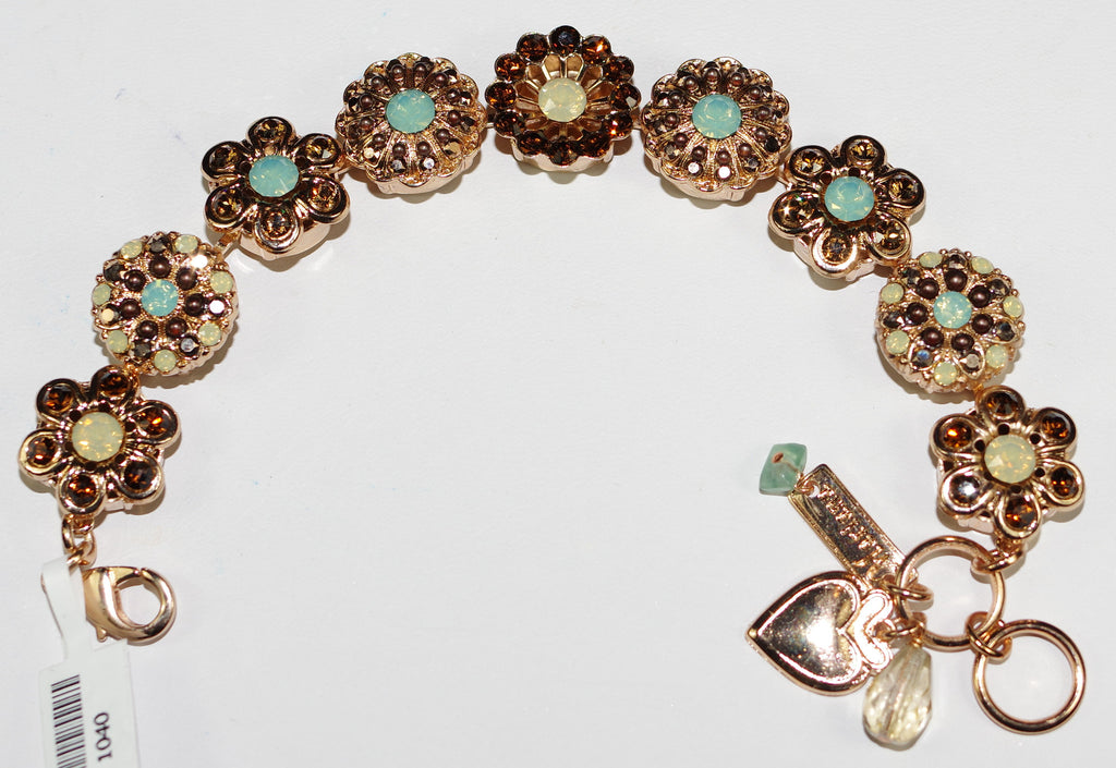 MARIANA BRACELET SERAI: pacific opal, white, brown stones in rose gold setting