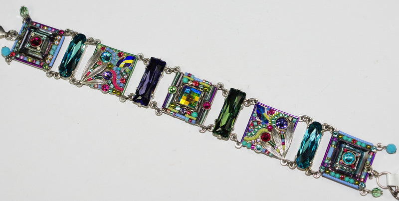 FIREFLY BRACELET SIG COLL SOFT: multi color color stones in silver setting