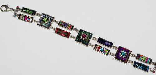 FIREFLY BRACELET ARCH MC: multi color stones in silver setting