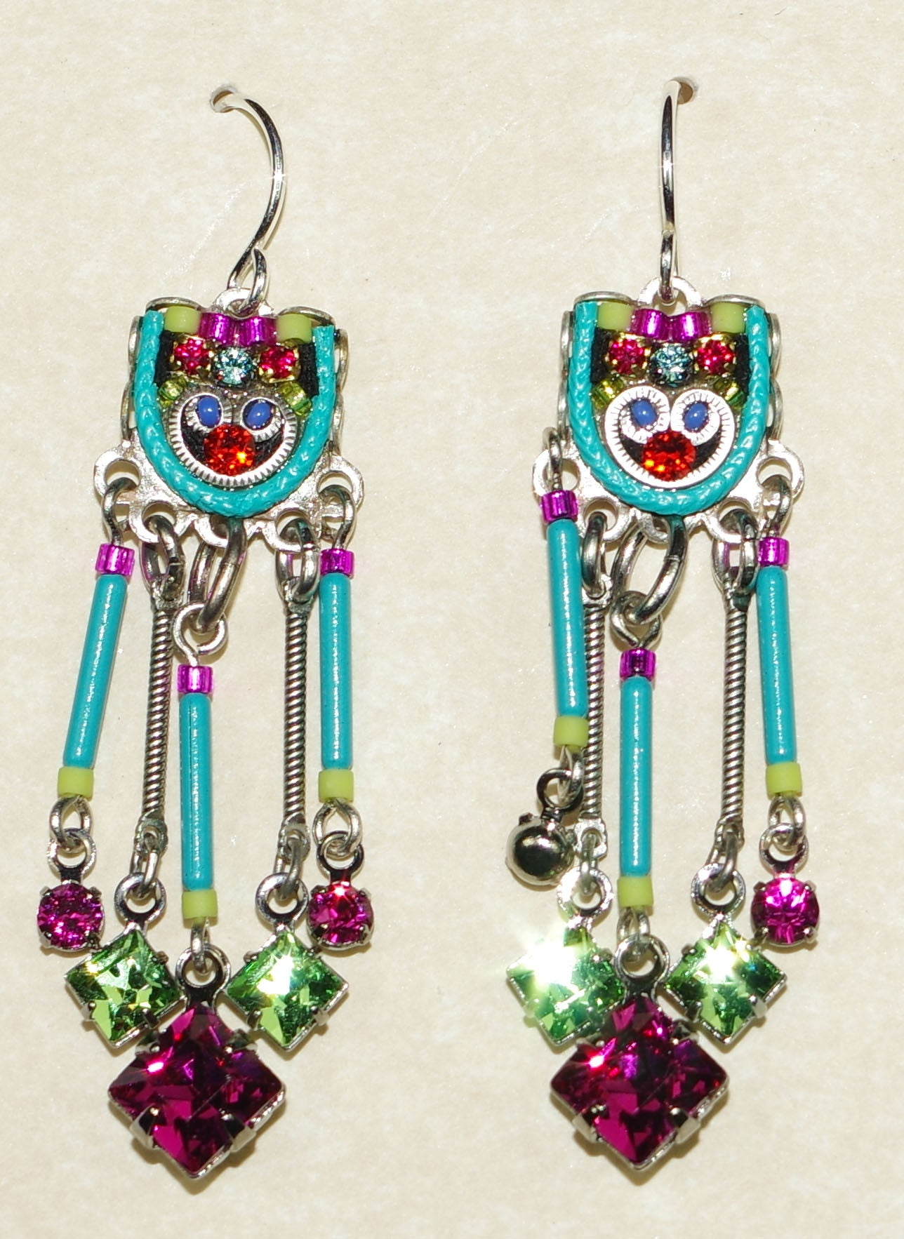color jhumki ethnic pear earrings antique multi