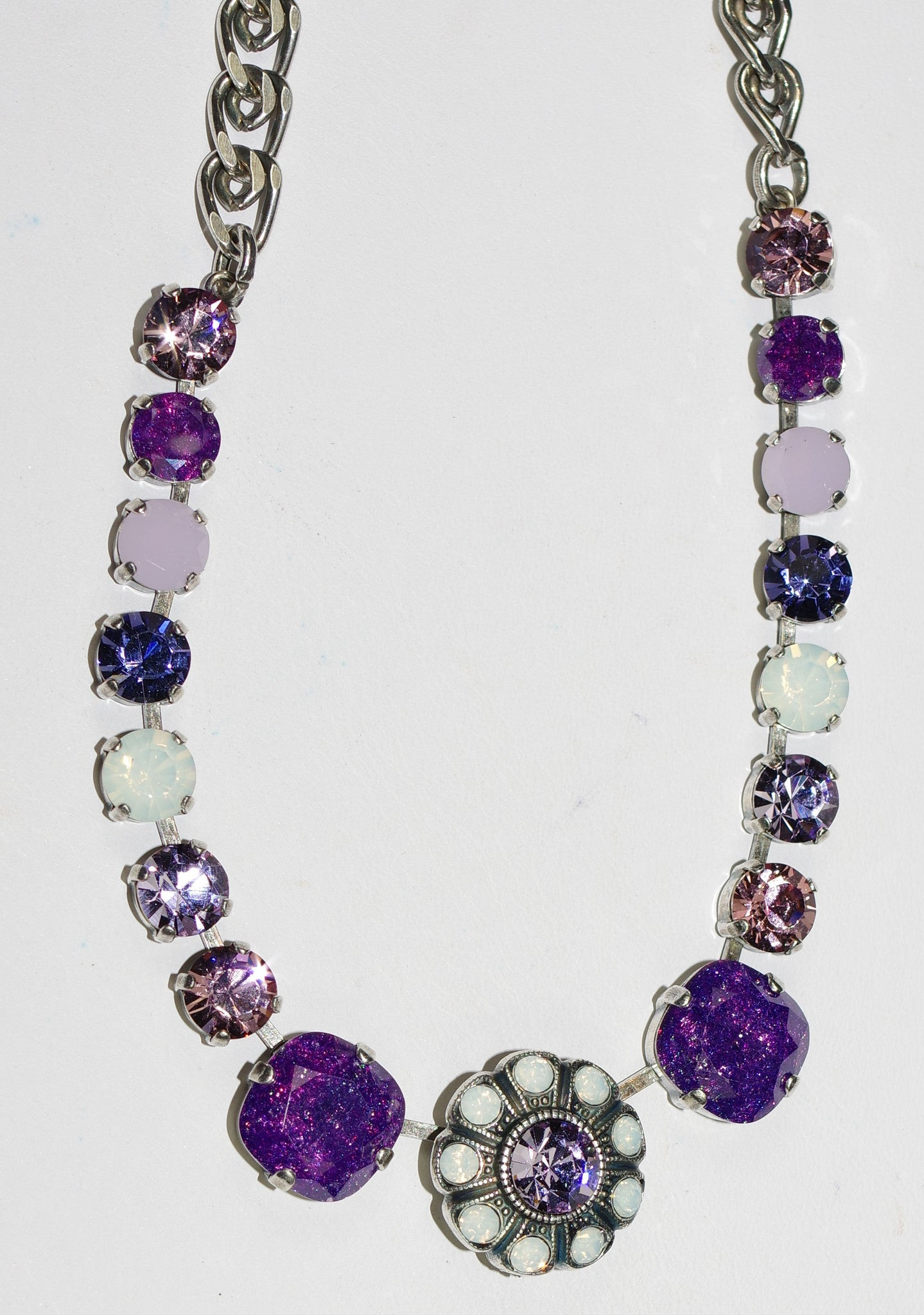 necklace purple stone rhodium rickis res hi
