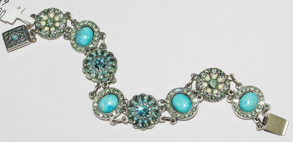 MARIANA BRACELET MOJITO: pacific opal, green, blue stones in silver setting