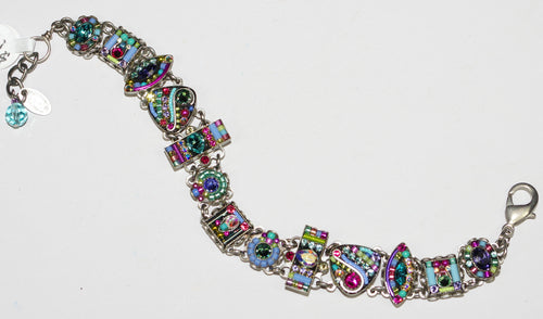 FIREFLY BRACELET VIVA 3091-SOFT: multi color color stones in silver setting