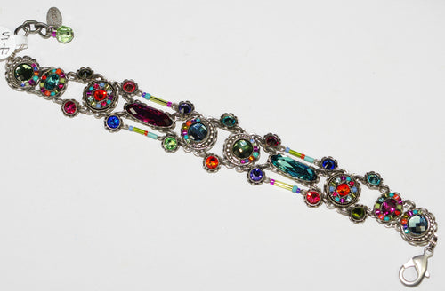FIREFLY BRACELET VIVA 3097-MC: multi color stones in silver setting