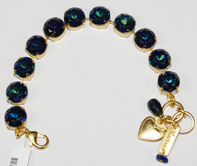 MARIANA BRACELET: blue a/b stones in yellow gold setting