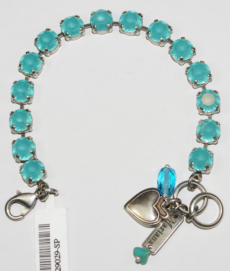 "MARIANA BRACELET BETTE BLUE CRYSTAL: 3/8"" blue stones in silver setting"