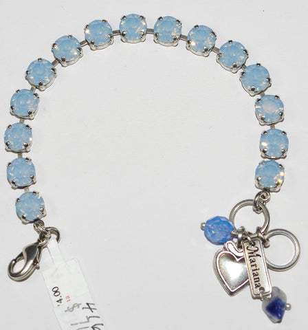 "MARIANA BRACELET AIR BLUE: 1/4"" blue stones in silver setting"