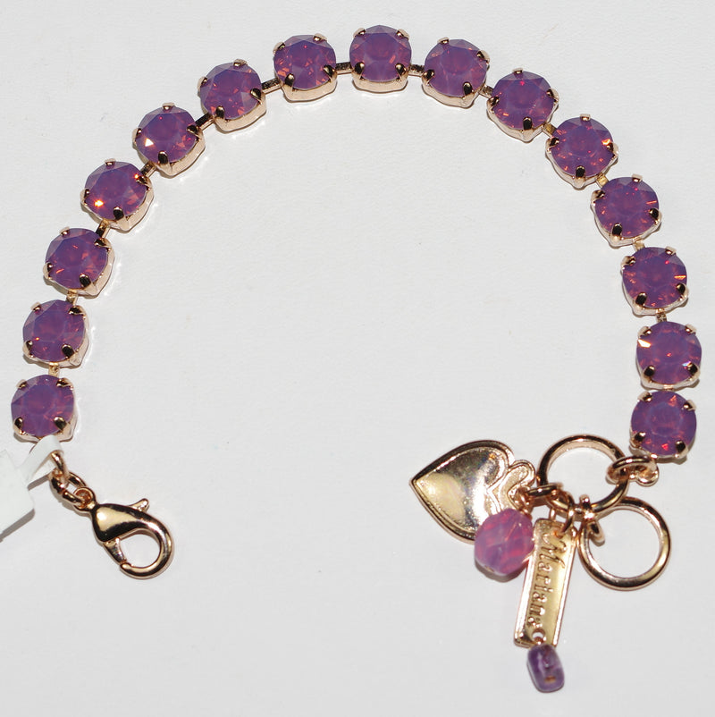 MARIANA BRACELET BETTE CYCLAMEN: lavender stones in rose gold setting