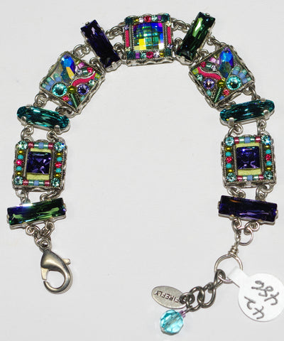 FIREFLY BRACELET LUXE MINI SOFT: multi color stones in silver setting