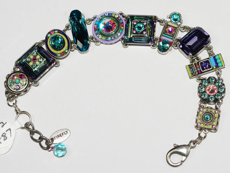 FIREFLY BRACELET LA DOLCE VITA SOFT: multi color stones in silver setting