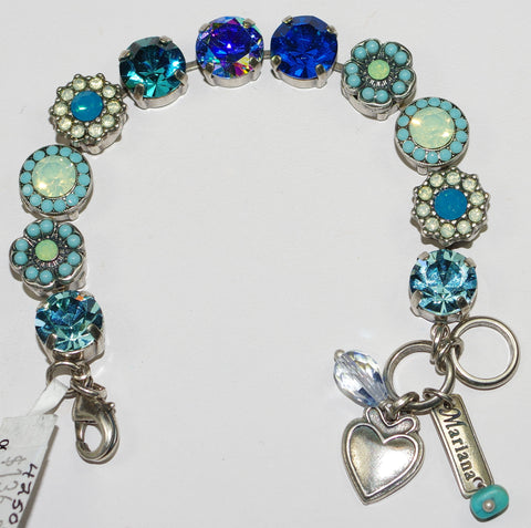 MARIANA  BRACELET BLUE LAGOON: blue, pacific opal, a/b stones in silver setting