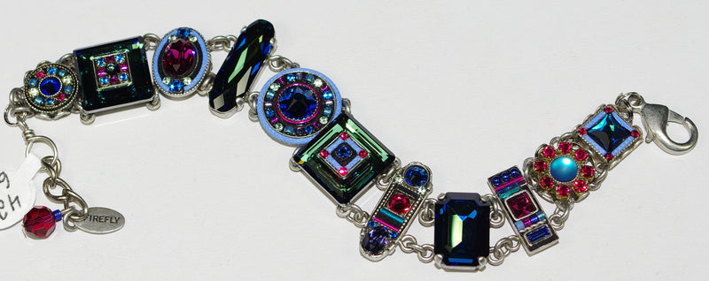 FIREFLY BRACELET LA DOLCE VITA BB: multi color stones in silver setting