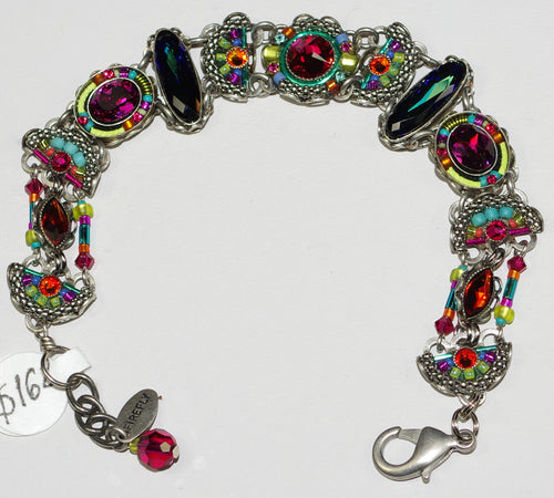FIREFLY BRACELET EMMA MC: multi color stones in silver setting