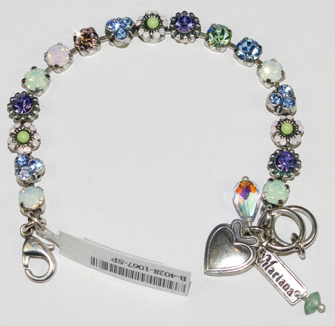 MARIANA  BRACELET CALIFORNIA DREAMING: blue, pink, purple, green stones in silver setting