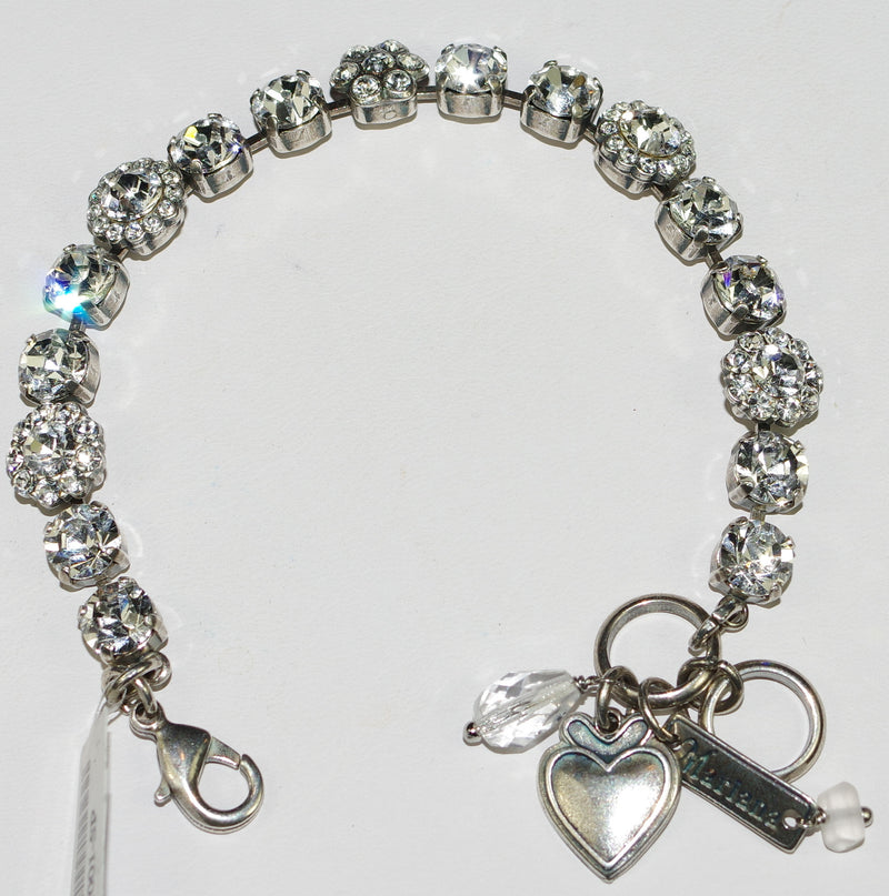 MARIANA BRACELET ON A CLEAR DAY JAYNE: clear stones in silver rhodium setting