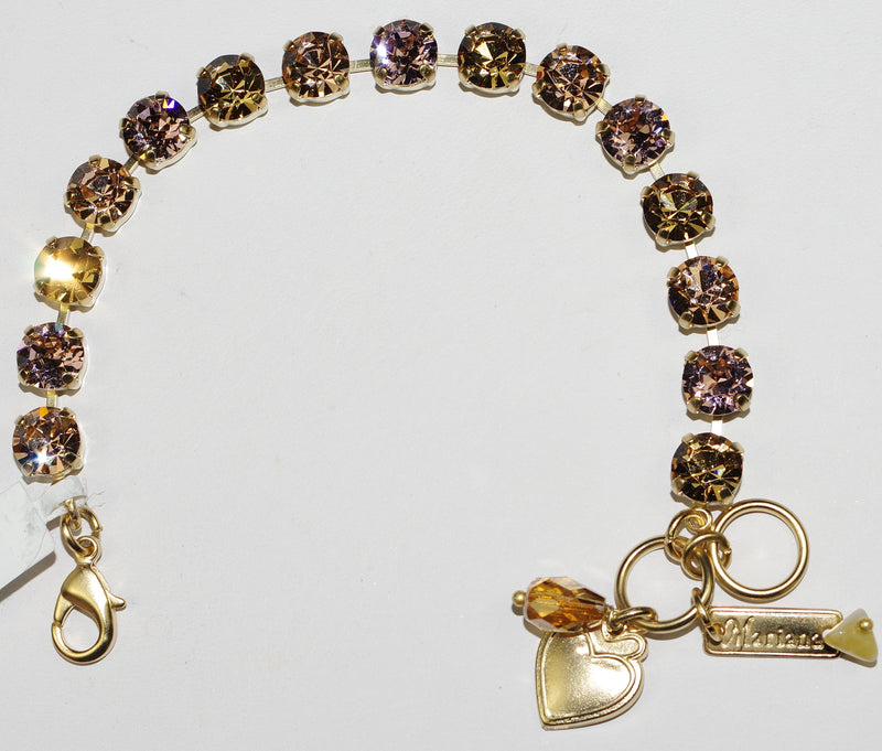 "MARIANA BRACELET BETTE GOLDEN TULIP: amber 1/4"" stones in yellow gold setting"
