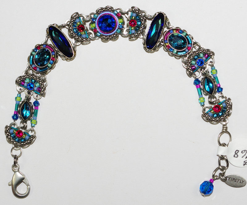 FIREFLY BRACELET EMMA BB: multi color stones in silver setting