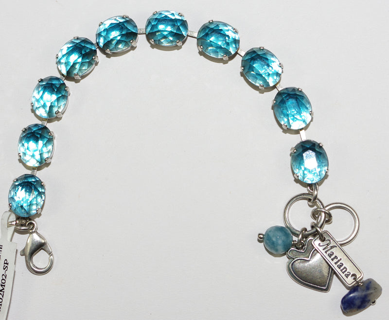 MARIANA BRACELET: blue stones in silver setting