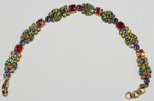 SORRELLI BRACELET BOHEMIAN BRIGHT: multi color crystals, antique gold setting