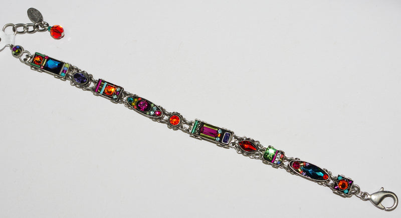 FIREFLY BRACELET MILANO SLIM MC: multi color stones in silver setting
