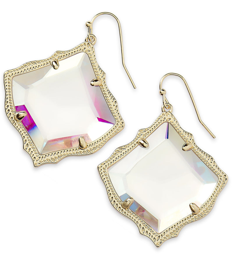 KENDRA SCOTT EARRINGS KIRSTEN GOLD DICHROIC GLASS