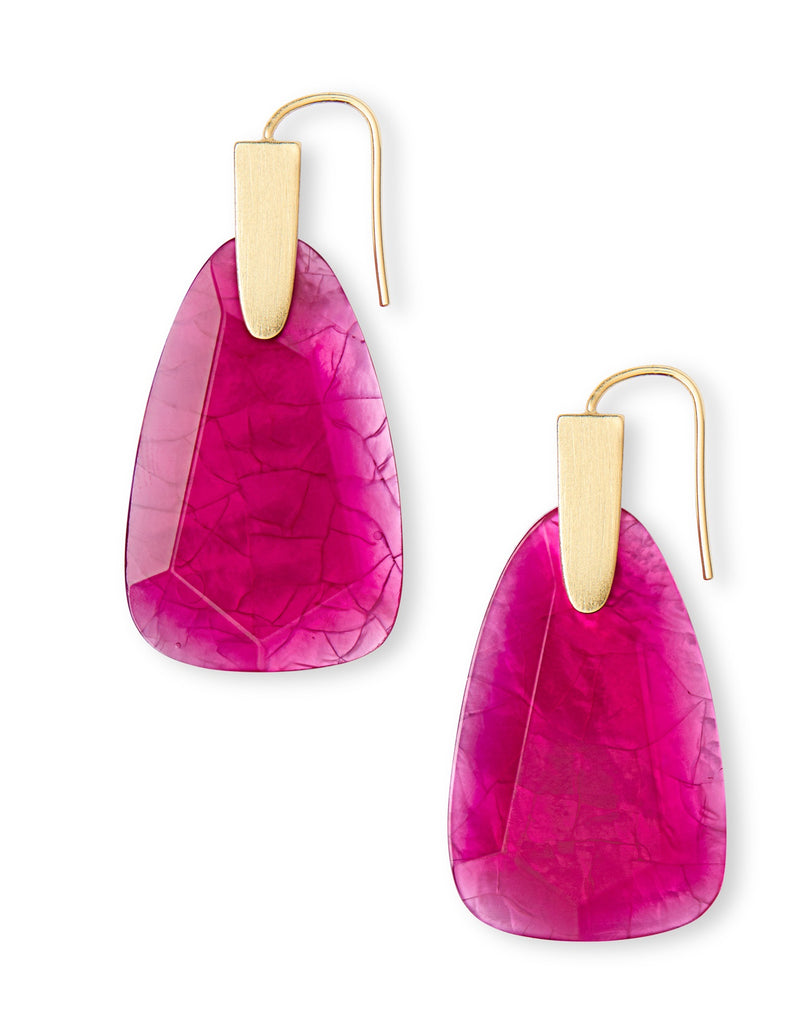 KENDRA SCOTT EARRINGS MARTY GOLD AZALEA ILLUSION