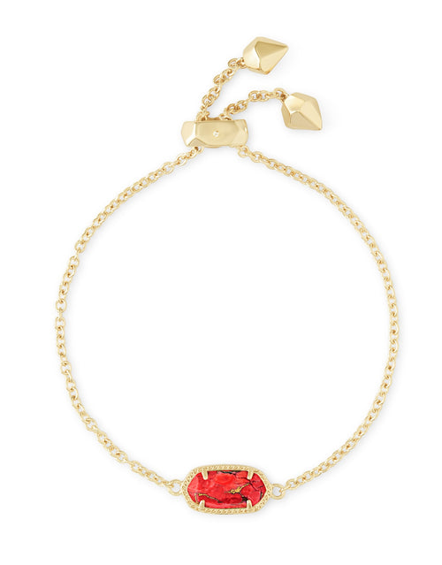KENDRA SCOTT BRACELET ELAINA GOLD BRONZE VEINED RED