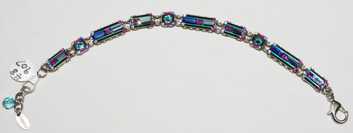 FIREFLY BRACELET ARCHITECTURAL-LIGHT TURQ: multi color stones in silver setting