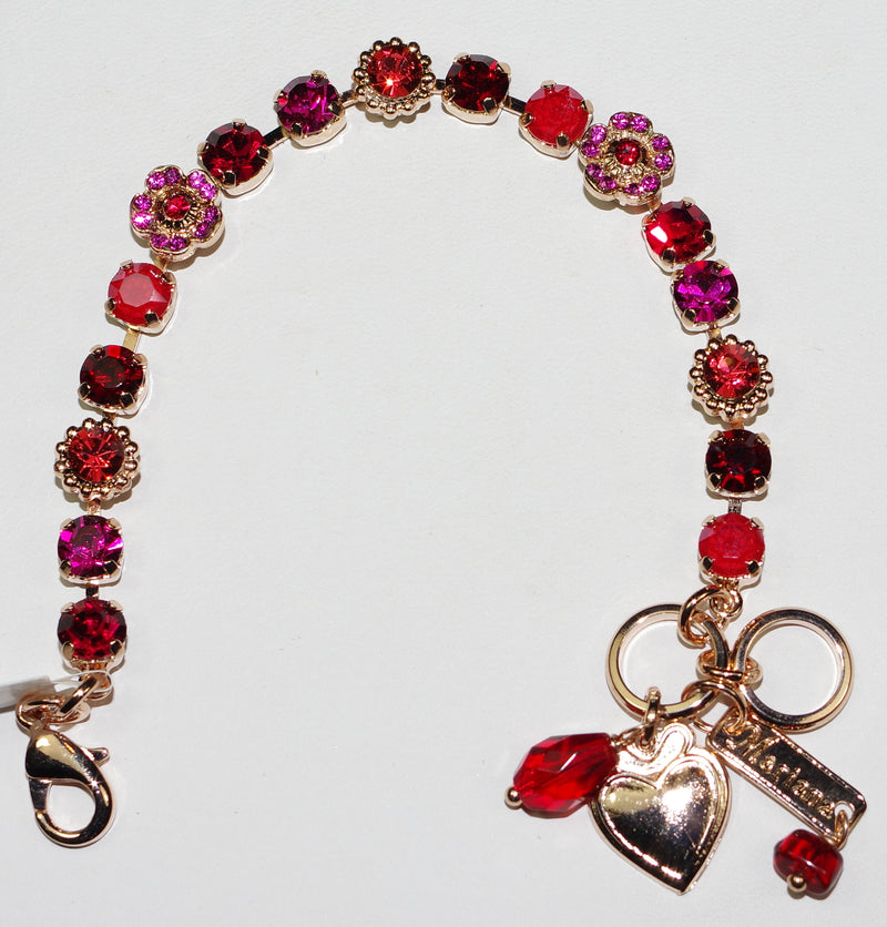 MARIANA  BRACELET FF SOPHIA: pink, red stones in rose gold setting