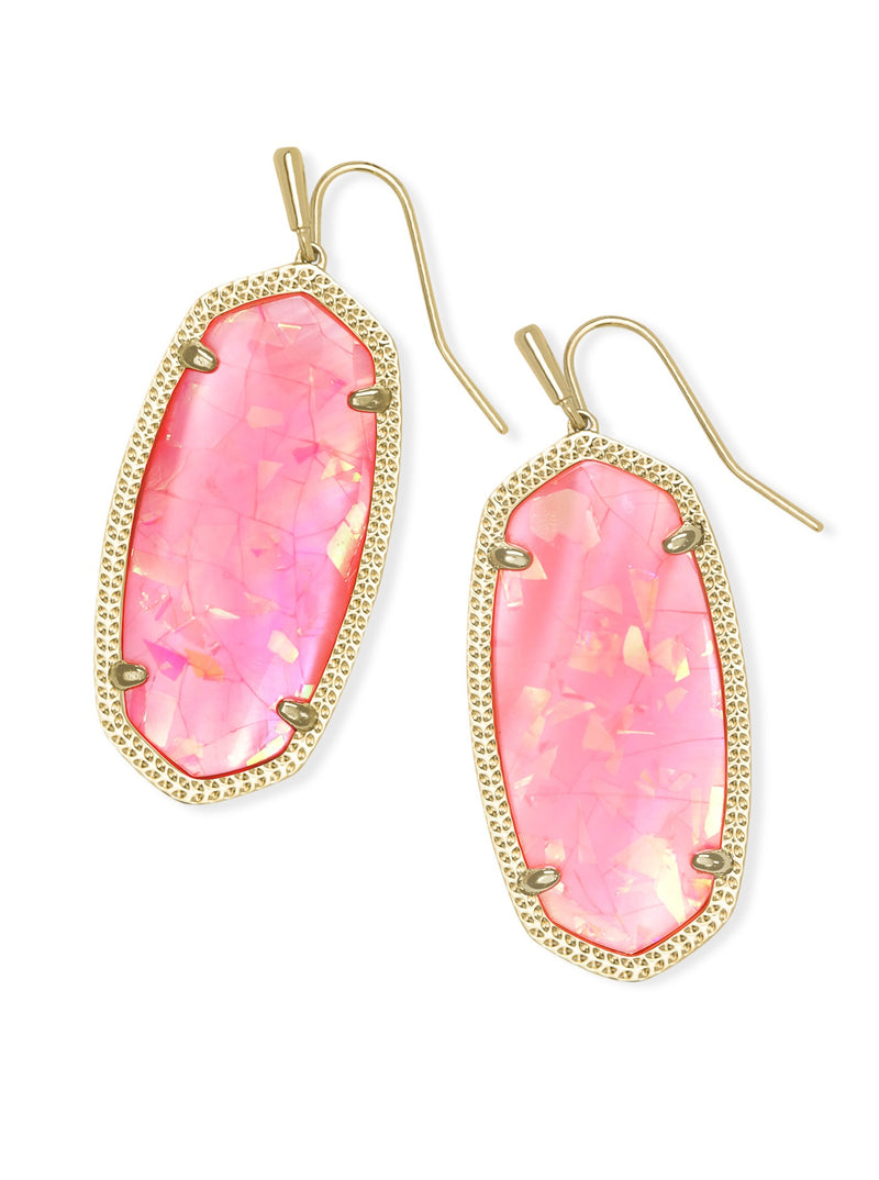 KENDRA SCOTT EAR ELLE GOLD IRIDESCENT CORAL ILLUSION