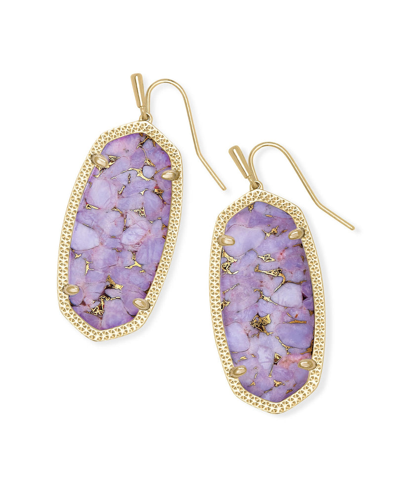 KENDRA SCOTT EAR ELLE GOLD BRONZE VEINED LILAC