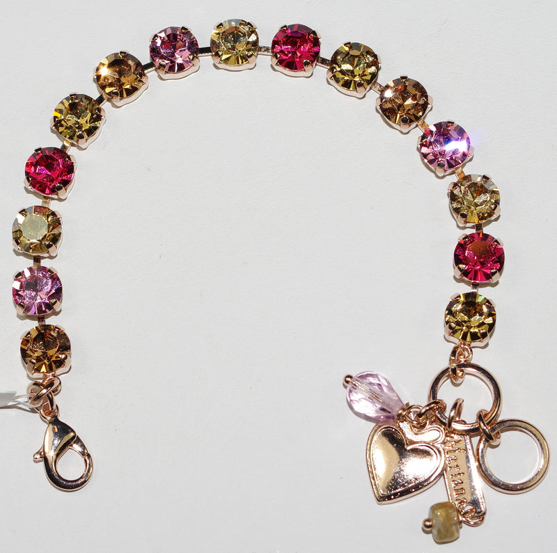 MARIANA BRACELET BETTE GINGERBREAD: pink, amber stones in rosegold setting