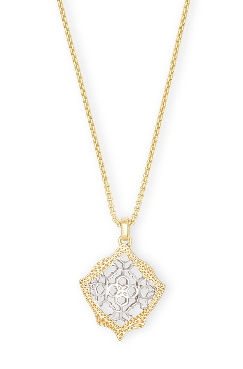 KENDRA SCOTT NECKLACE KACEY GOLD-RHODIUM FILIGREE MIX