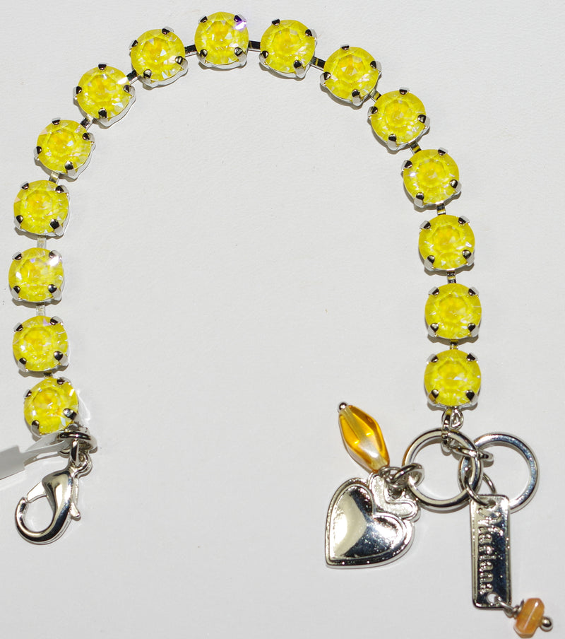 "MARIANA BRACELET BETTE SUN KISSED YELLOW: ultra yellow 1/4"" stones in rhodium setting"