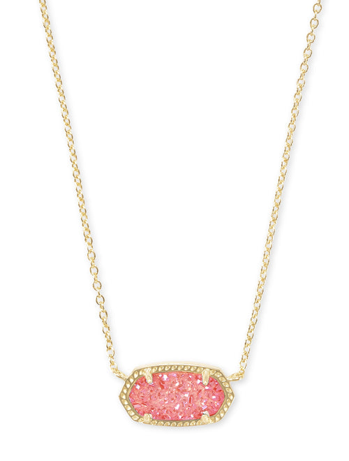 KENDRA SCOTT NECKLACE ELISA GOLD CORAL DRUSY