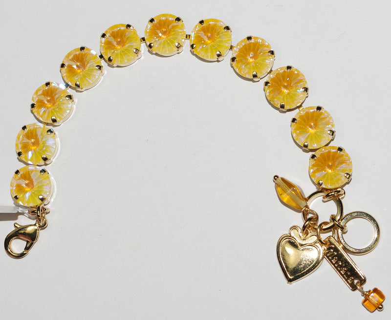MARIANA BRACELET YELLOW SUN KISSED: yellow ultra stones in yellow gold setting