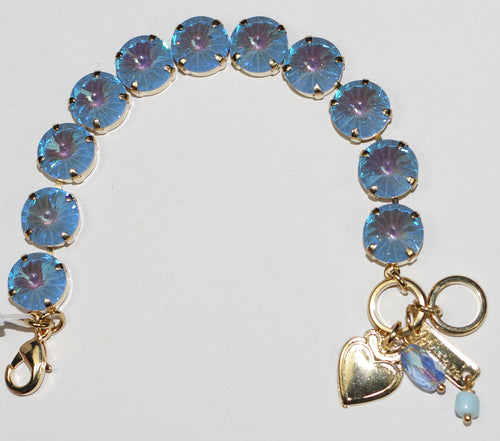 MARIANA  BRACELET SUN KISSED BLUE: blue ultra stones in yellow gold setting