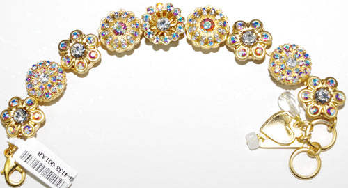 MARIANA BRACELET ON A CLEAR DAY: clear, a/b stones in yellow gold setting
