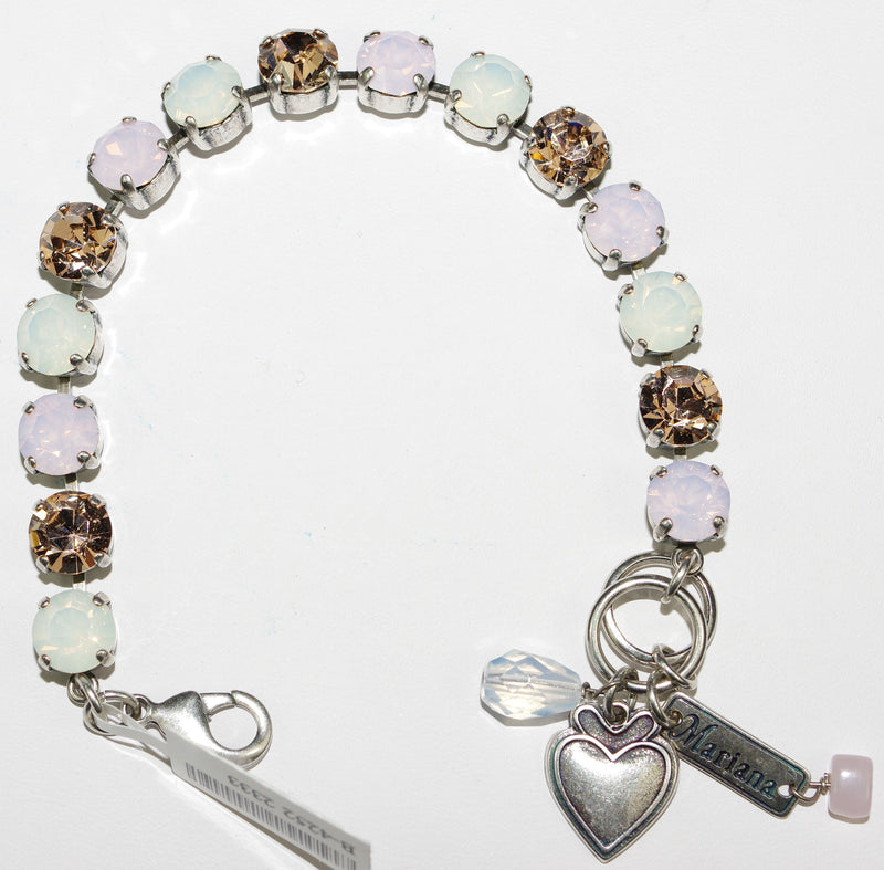 MARIANA BRACELET TIARA DAY BETTE: pink, moon stones in silver setting