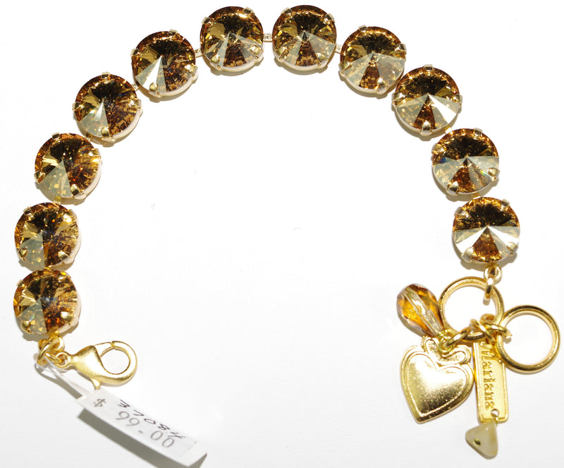 MARIANA BRACELET SUN SAND: amber stones in yellow gold setting