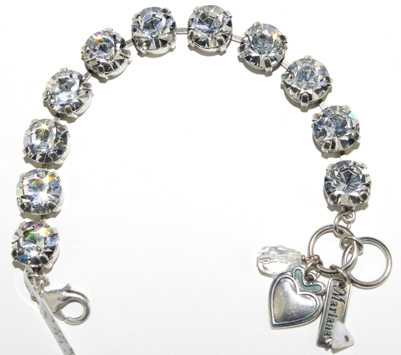MARIANA BRACELET ON A CLEAR DAY: clear stones in silver setting