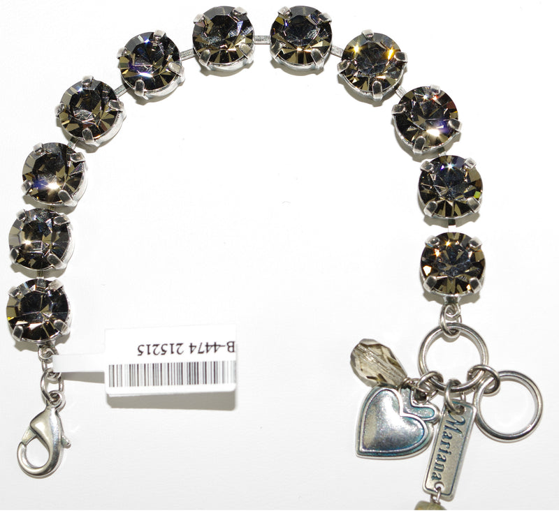 MARIANA BRACELET BLACK DIAMOND: taupe stones in silver setting