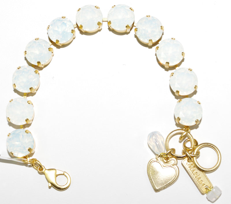 MARIANA BRACELET WHITE OPAL: white opal stones in yellow gold setting