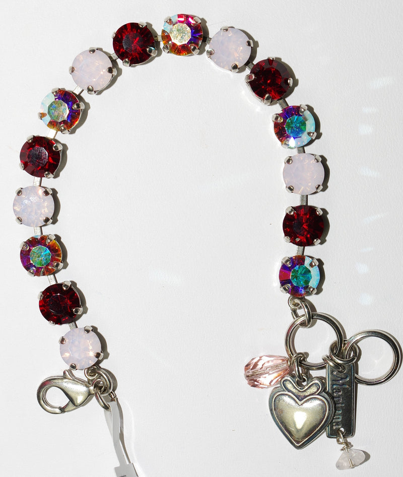 MARIANA BRACELET TRUE ROMANCE BETTE: red, pink, ab stones in silver setting