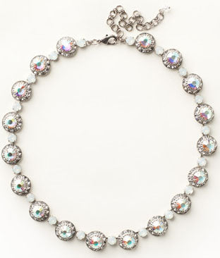 SORRELLI NECKLACE: crystals in antique silver setting