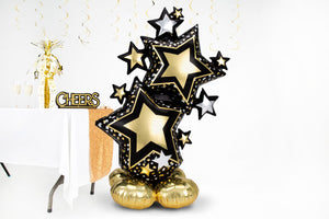 Star Cluster Balloon (black/gold)