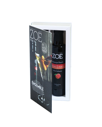 Zoë Cookbook Gift Box: Peach Balsamic & Raspberry Balsamic