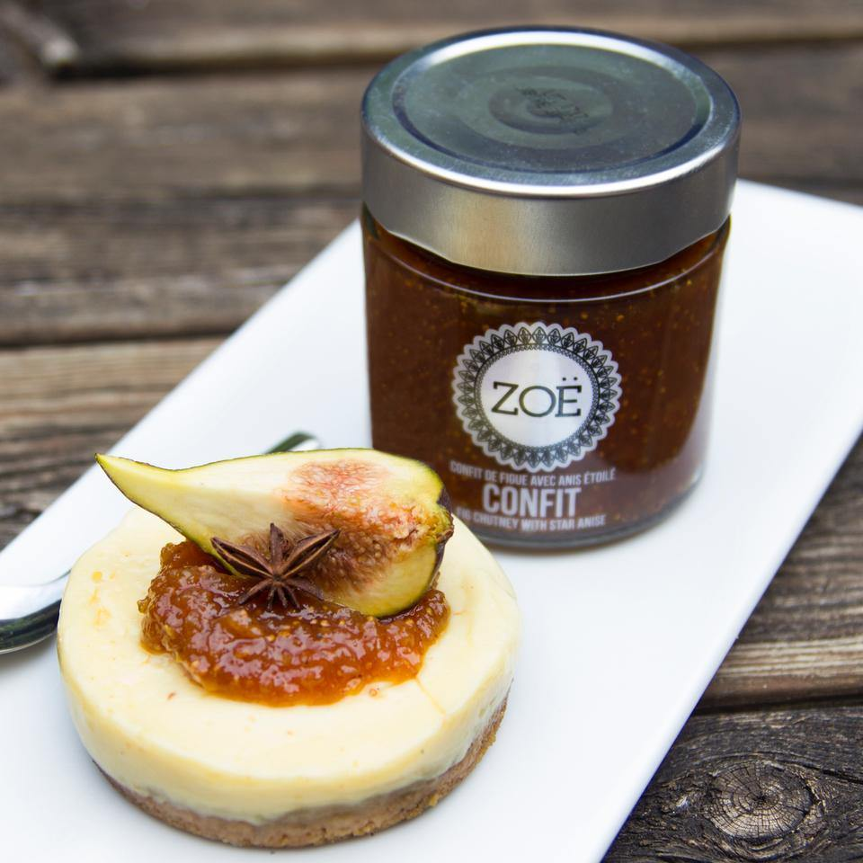 Fig chutney with star anise